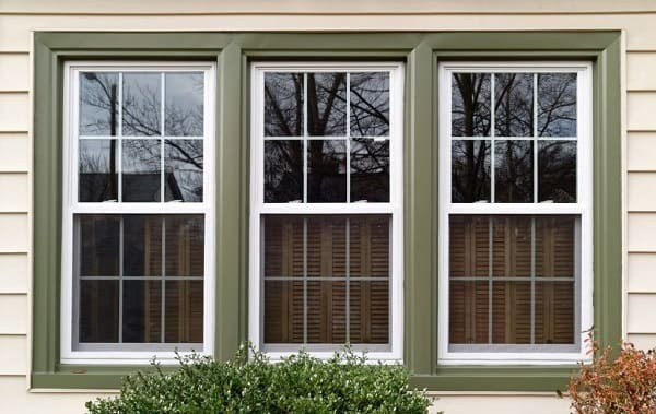 5. Double hung windows Vertically slide up and down within frame